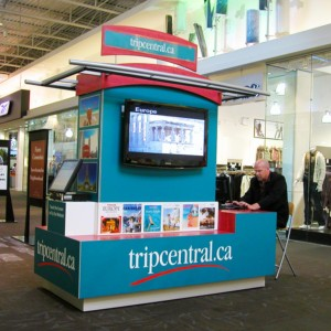 custom display mall kiosk