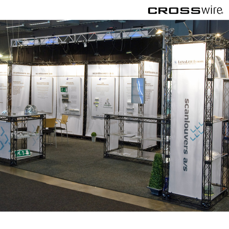 20' truss exhibit at trade show