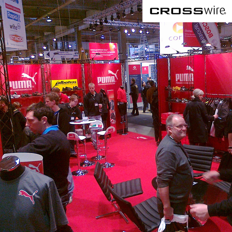 truss exhibit at trade show