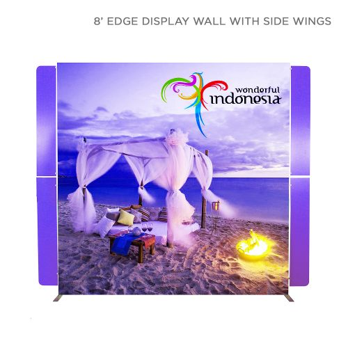 SEG fabric backwall display