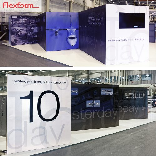 large custom 30' booth