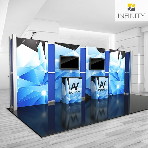 fabric printed custom 20' booth