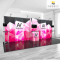 20' custom display booth with print