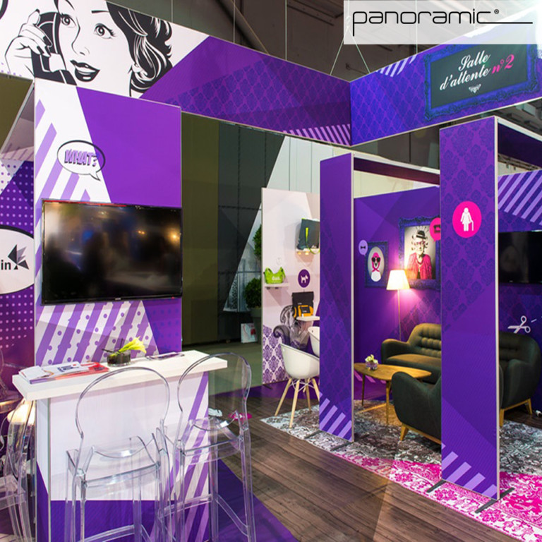 Panoramic panel booth