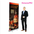 Retractor roll-up banner