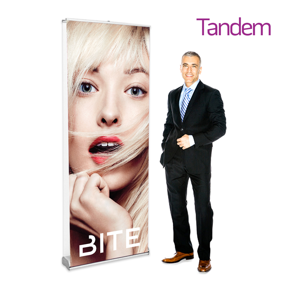 double-sided roll-up banner