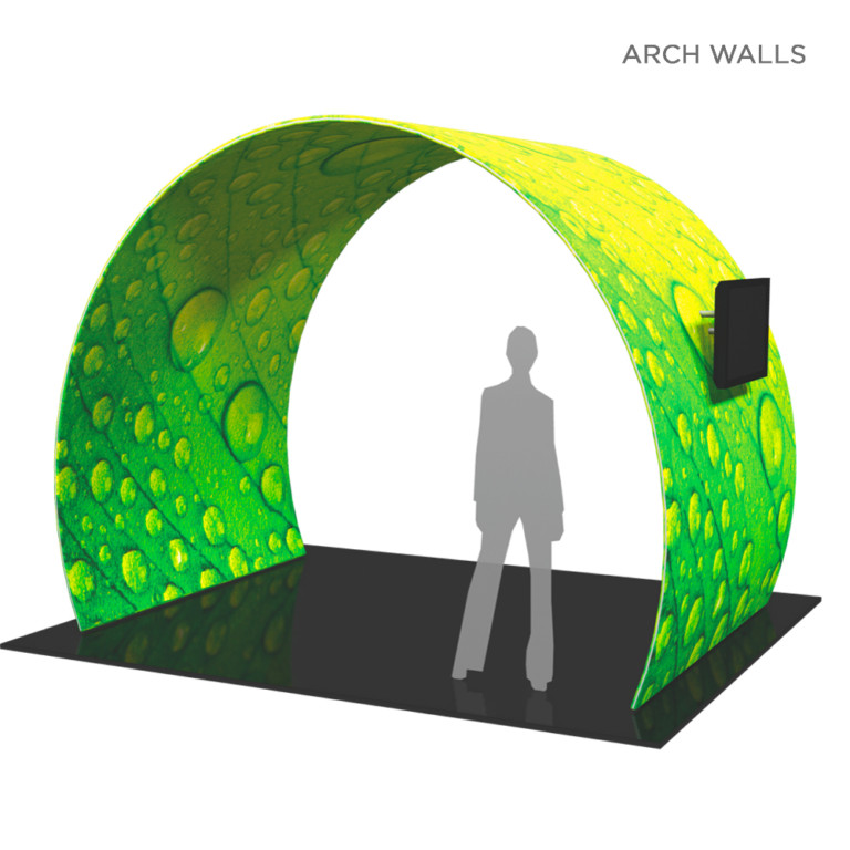 dye sublimated arch wall