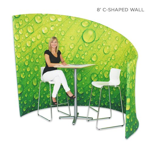 10' fabric curved wall