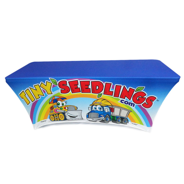 8' tension fabric tablecloth