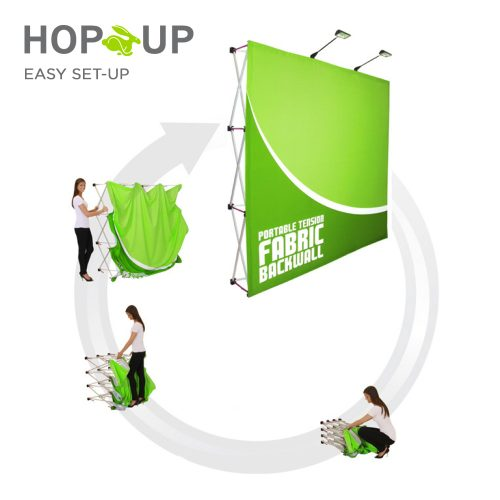 hop-up set-up display