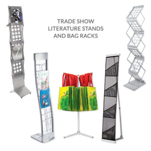 literature stands for trade shows