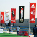 outdoor promotional event flags