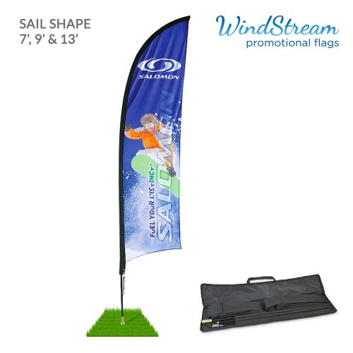 shark fin promotional flag