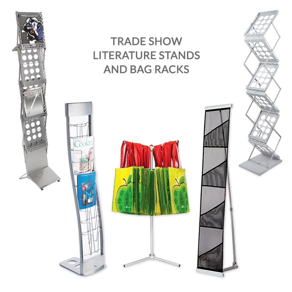 Trade Display Stands : Literature stands brochure rack bag holder toronto