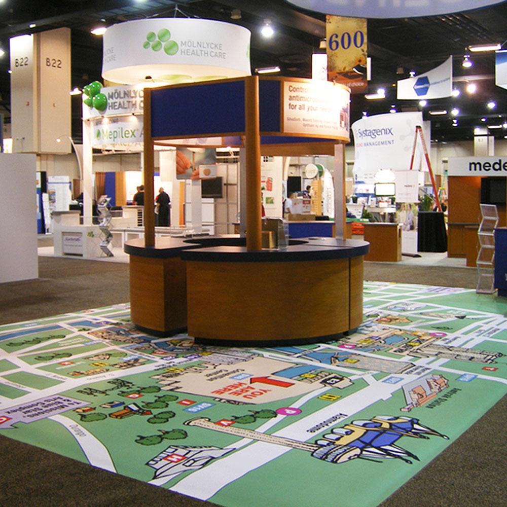 Portable Exhibition Flooring : Trade show flooring flexfloor portable